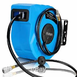 1/4 Automatic Hose Reel Compressed Air Pipe 10m 12 Bar Swing 180° Wall Mount