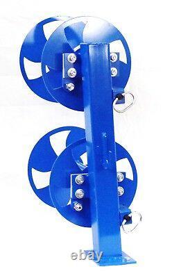 10 Welding Lead Cable Reel Fixed Base Heavy Duty Blue
