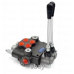 2 Spool Hydraulic Directional Control Valve 11GPM Adjustable for Tractors Loader