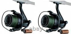 2 X Sonik Vader X Spod / Marker Reels With 200m 30lb Braid NEW Carp Fishing