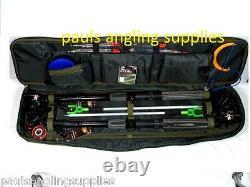 2 x 10 Ft Fishing Set Kit Rods + 2 x Reels Tackle Bag Floats Shot Hooks Travel