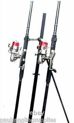 2 x 13 ft Shakespeare Rods & Max 70 Reels & Tripod Beachcaster Sea Fishing