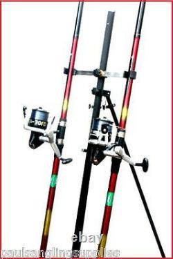 2 x 15 ft Mitchell Rods & SX 70 Reels & Tripod Beachcaster Sea Fishing