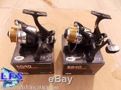 2 x 2BB CARP FISHING FREE RUNNER REEL + 10LB LINE EG40 REEL