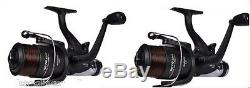 2 x Shakespeare Beta Freespool Carp Fishing Reels Bait, Switch at rear