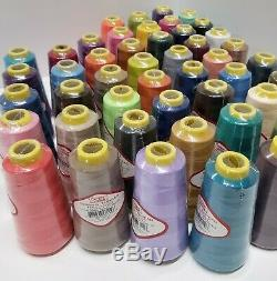 24 Big Spools Sewing Thread Polyester Assorted Colors 2500 yards each Spool