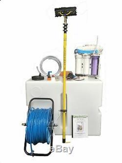 250l Waterfed Pole Window Cleaning Van System 18ft Pole Hose Reel Shurflo