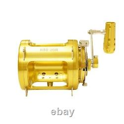 80 Wide 2 Speed Saltwater Fishing Reel Blue Marlin Tournament Edition