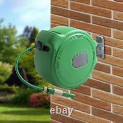 Auto Retractable Water Hose Wall Mounted Hose Reel 10M Garden Watering Hosepipe