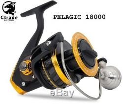 Big Game Fishing Reel Pelagic 18000 Spinning Reel 30 kg Drag Quality! Warranty