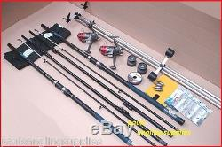 Blue Ocean 14 ft Sea Fishing Beach Beachcasting Rods Reels Tripod Tackle Kit Set
