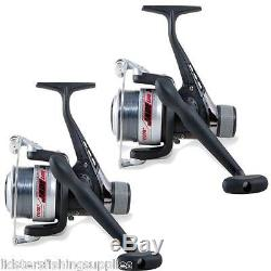 Brand New 2 X Lineaeffe Course Fishing Reels + Line