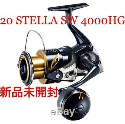 Brand new unopened Shimano spinning reel 20 Stella SW 4000HG from japan