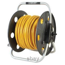 CLABER Lightweight Metal Reel with 100m of Microbore 6mm hose & Aquastop