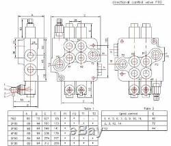 Cable remote control valve kit 2 spool valve 80lpm/ 21gpm + cables + joystick