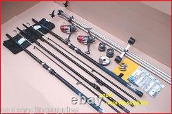 Carbo14 ft/ 4.2m Sea Fishing Beach Beachcasting Rods Reels Tripod Tackle Kit Set