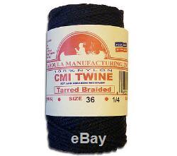 Catahoula No 36 Tarred Braided Bank Line 4 oz Spool 138 ft Nylon Twine