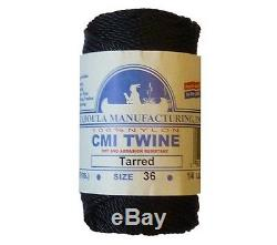 Catahoula No 36 Tarred Twisted Bank Line 4 oz Spool 117 ft Nylon Twine