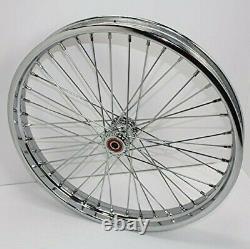 Chrome 40 Spoke 21 x 1.85 Spool Front Wheel 5/8 Axle Custom Motorcycle