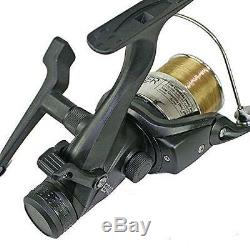 Complete Carp Fishing 2 Rod Set Up Reels With Carryall Holdall Pod Alarm Tackle