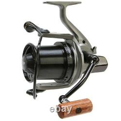 Daiwa DCR5 Basia Custom Big Pit Reel Grey Body/ Black Spool Wooden Handle