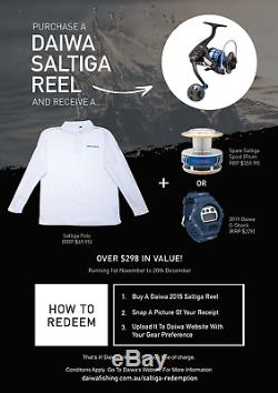 Daiwa Saltiga Expedition 5500 H Spin Fishing Reel NEW @ Otto's Tackle World