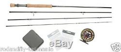 FLY FISHING SALT OUTFIT rod, reel, line backing, leader, box of saltwater flies