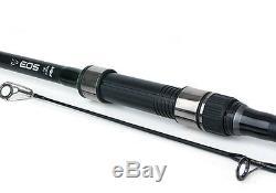 Fox NEW 2x EOS Carp Fishing Rods 2 Piece 12ft 3lb + 2x EOS 10000 Reels CRD254