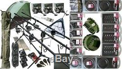Full Carp Fishing 3 Way Set up Rods Reels Alarms Rod Holdall Bivvy Loads Tackle