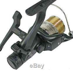 Full Carp Fishing Set Up Complete With 2 Rods Reels Alarms Landing Net Tackle