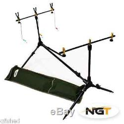 Full Carp Fishing Set up Rods Reels Hair Rigs Bite Alarms Holdall & Tackle