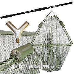 Full Carp Fishing set up 2 man Bivvy 3 Rods Reels Bag Alarms Tackle Holdall Net