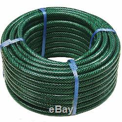 Garden Hose Pipe Reel Reinforced Outdoor Hosepipe Green 30m 50m 75m 100m