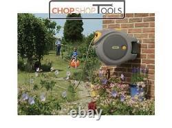 HOZELOCK Auto Reel Retractable Garden Hose Watering Reel With 40m Hose 2595