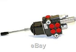 HYDRAULIC CONTROL VALVE TWO SPOOL 10 GPM 3625 PSI MAX OPEN CENTER WithJOYSTICK