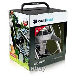 Hose Reel Garden Set Pipe Trolley Spray Gun Nozzle Professional 50m Cellfast UK