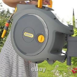 Hozelock 2401 Auto Reel Retractable Hose Watering Reel Garden 20m 2490