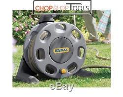 Hozelock 2412 Hose Reel Pipe 25m Garden Hose With Starter Fittings Jet Spray Gun