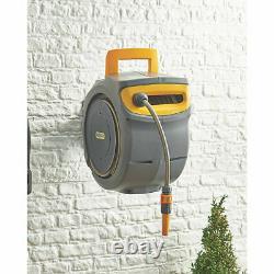 Hozelock Auto Reel Retractable Hose Wall Mounted Auto Rewind Watering 10 30m 40m