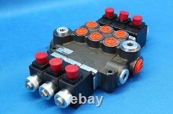 Hydraulic Bank Motor 3 Spool Valves 50l/min Electric 12v + 2 Joysticks