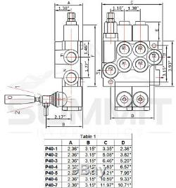 Hydraulic Directional Control Valve Tractor Loader with Joystick, 2 Spool, 11 GPM