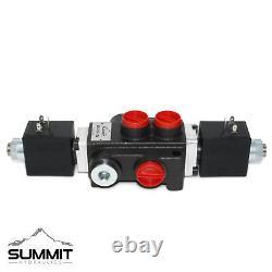 Hydraulic Monoblock Directional Solenoid Control Valve, 1 Spool, 13 GPM, 12V DC