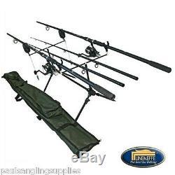 Lineaeffe Complete Carp Kit Rods, Reels, Alarms, Pod, Holdall, Line Set Up