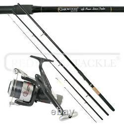 Match/Carp Fishing Feeder/Quiver Rod & Reel + Line Feeders Hooks, Weights Combo