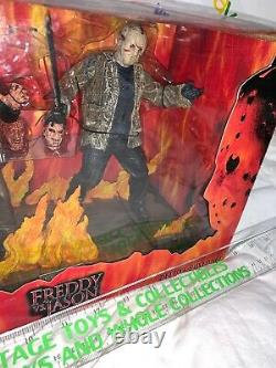 Neca 2004 FREDDY VS. JASON Diorama DELUXE BOXED SET NEVER OPENED Reel Toys