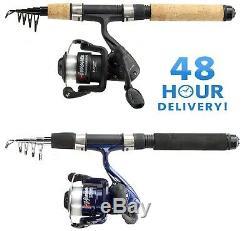 Ngt Mini Telescopic 5ft Travel Fishing Rod 5ft Pen Rod + Reel Combo