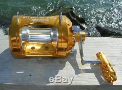 OKIAYA PRO NATIONAL 50W-II 2 Speed Reel with AXR Drag 2016 NEW IMPROVED MODEL