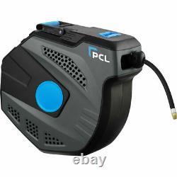 PCL HRA2V01 Wall Mounted Slow Retract Air Hose Reel 10mm (3/8) Length 20m 65ft
