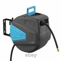 PCL HRA3L02 Wall Mounted Slow Retractable Pro Air Hose Reel 10mm (3/8) 50Ft