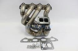 PLM B Series T4 Top Mount Dual Wastegate Turbo Manifold B16 B18 B20 EG6 DC2 EK9